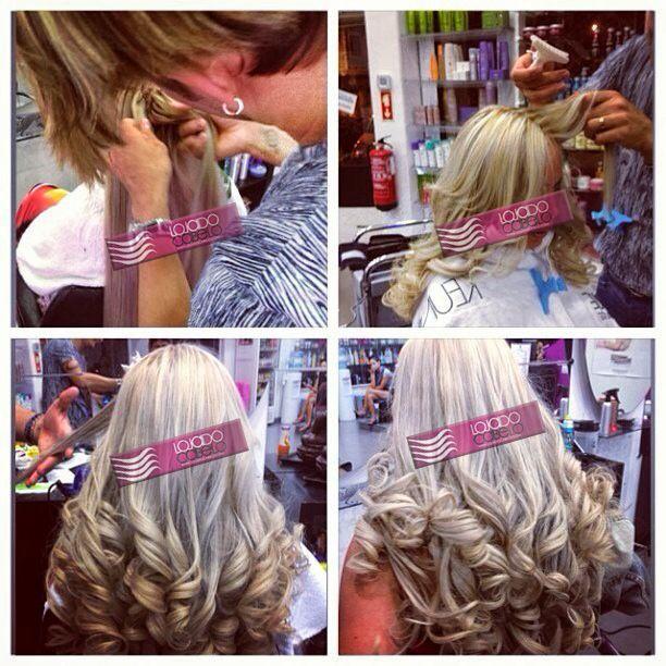 Mais uma aplicação com #Cabelo #Asiático descolorido para loiro! Espetacular!   Tipo: Cabelo Asiático de 75 Cms - Quantidade: 300 gramas - Fornecedor: Loja do Cabelo - Contacto: Cláudia Botelho +351 96 531 90 55 (Portugal)  #hair #hairextensions #extensões #extensõesdecabelo #lojadocabelo