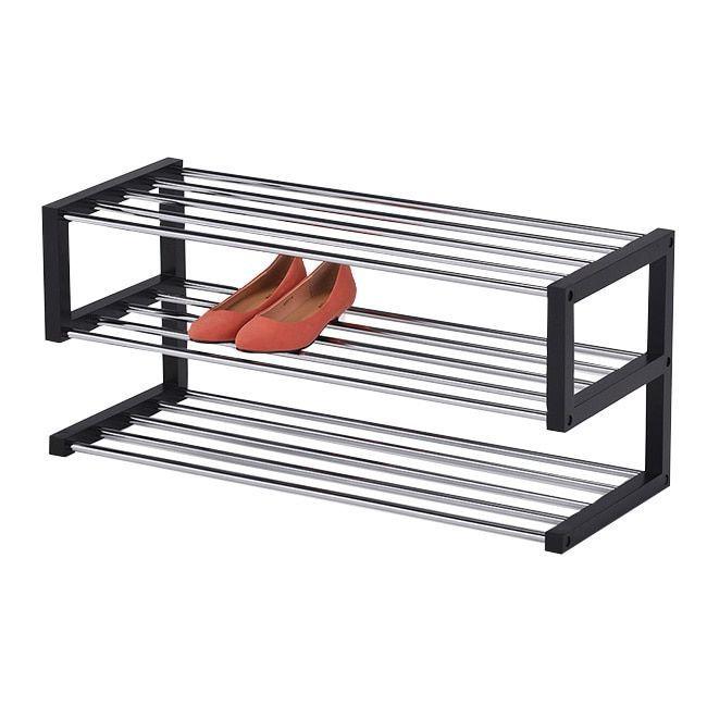 ku0026b modern 3tier shoe rack sr1291 black metal modern shoe rackcloset storageshoe racksblack