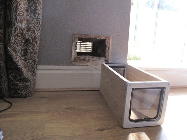 How to make a cat flap in a wall diy pinterest cats - Interior door with pet door installed ...