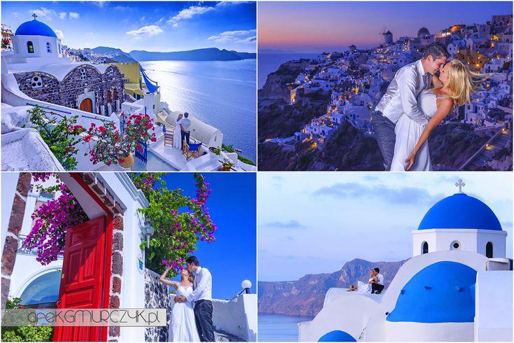 Sesja ślubna na królewskiej wyspie ognia i miłości- #Santorini  #Oia