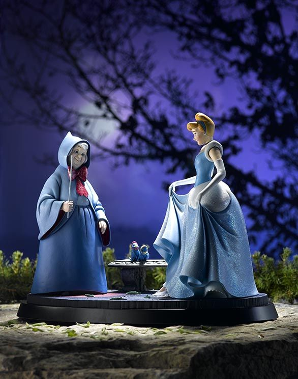 Inspired by a 'moment' from one of Walt Disney's most successful films — Cinderella, this figurine is produced in a worldwide numbered edition of 250, will be painted by hand meaning no two will be identical, and, as befits such a prestigious study, every piece will be presented with a numbered certificate of authenticity. #disney #FairyGodmother #limitededition #HandMadeinBritain