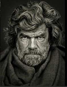 """Reinhold Messner, Firmian"" portrait of Mountaineer Reinhold Messner photographed by Andreas H. Bitesnich, Austrian photographer and musician, 2009"