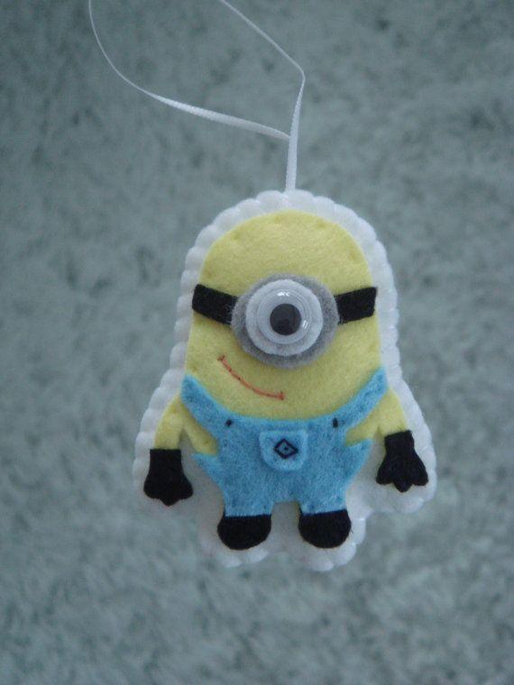 cute felt Despicable Me minion ornament decoration. $7.50, via Etsy.