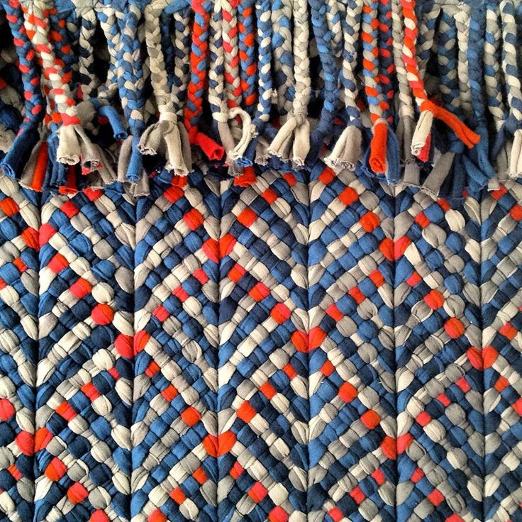 Re Rag Rug: SPICE | plaiting | excess material from the t-shirt industry in southern India