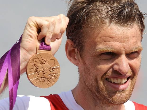 Alan Campbell wins bronze for the men's single sculls rowing event on day seven