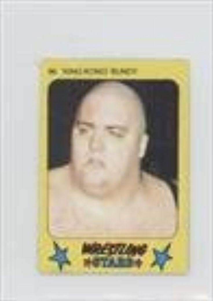 king kong bundy trading card 1986 monty gum super wrestling stars 96