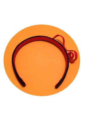 Headband with a red snake