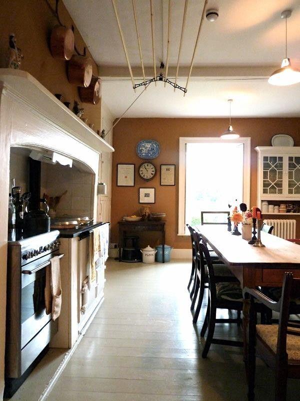 The clothes dryer!!! :  Ben Pentreat Dorset Parsonage Eat-in Kitchen   Remodelista