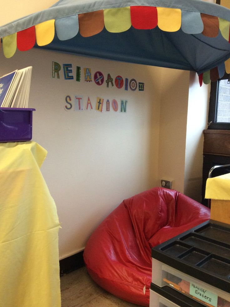 "Create a ""relaxation station"" in your classroom! -- Botticelli & Aramini, PS 396"