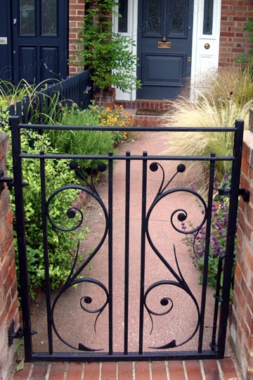 This Elegant Metal Garden Gate Was Commissioned To Reflect A Pattern Seen  In The Door Glass Of The Property. It Was Designed And Made By Verdigris,  ...