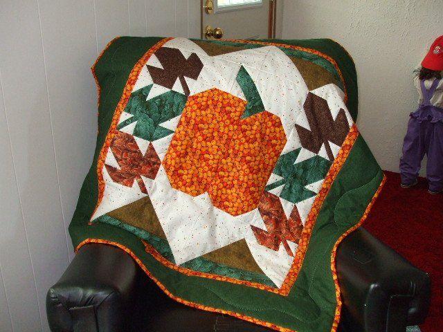 Pumpkin lap quilt 2007