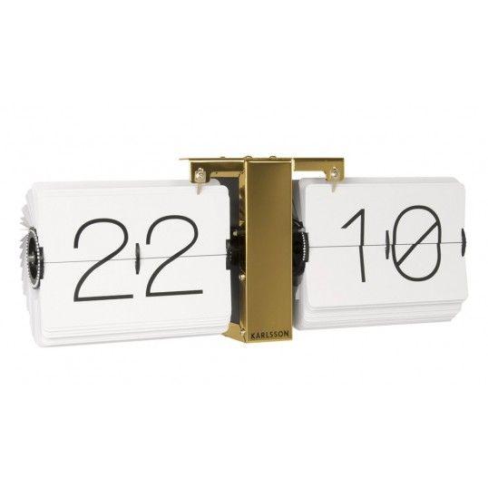 Väggklocka retro - Karlsson Flip Clock No Case White