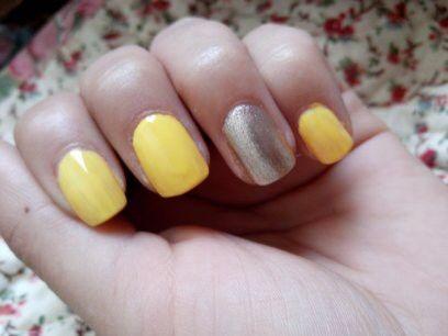 Amarillo patito #nailart #nail