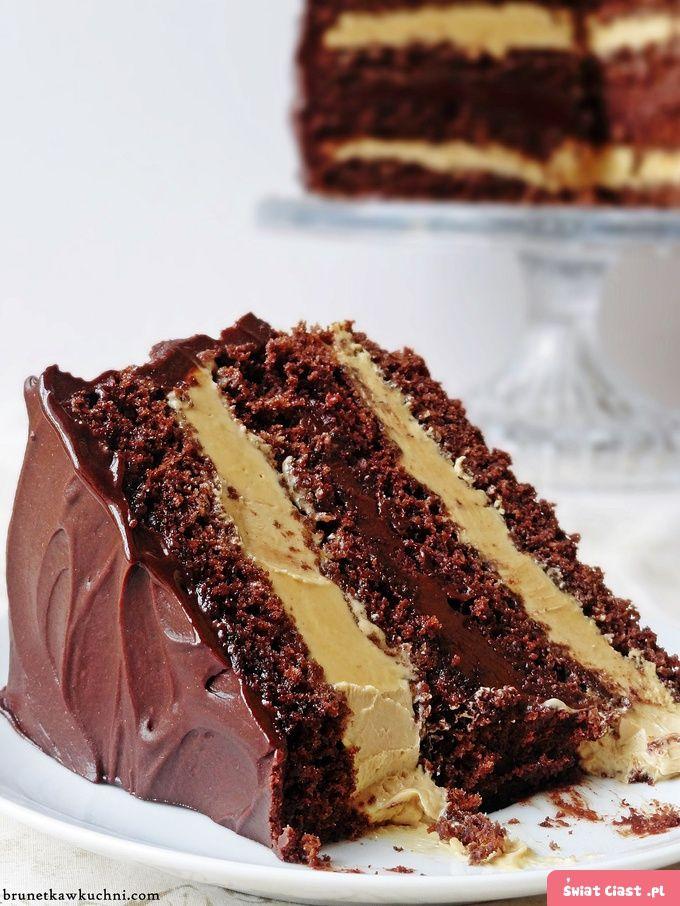 Dekadencki tort czekoladowo-krówkowy