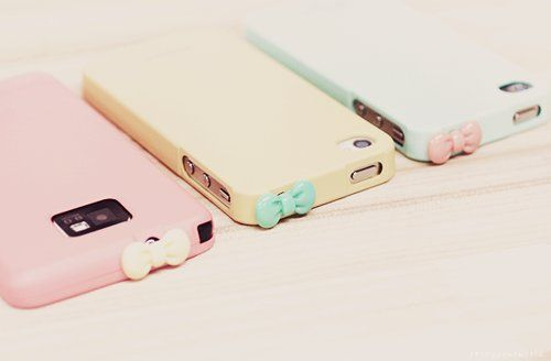 Pastel Pink Yellow Blue Bow Iphone Cellphone Case