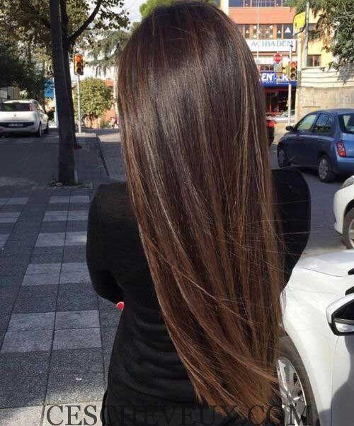 11.Longue ligne Droite de Coiffure idee coupe de cheveux