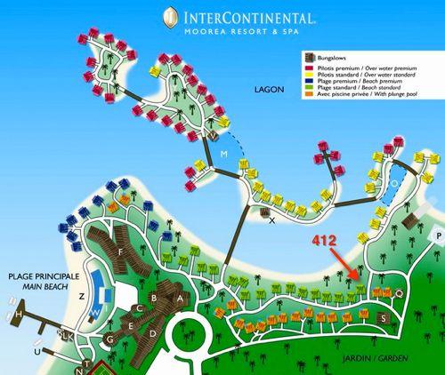 InterContinental Moorea Resort Map
