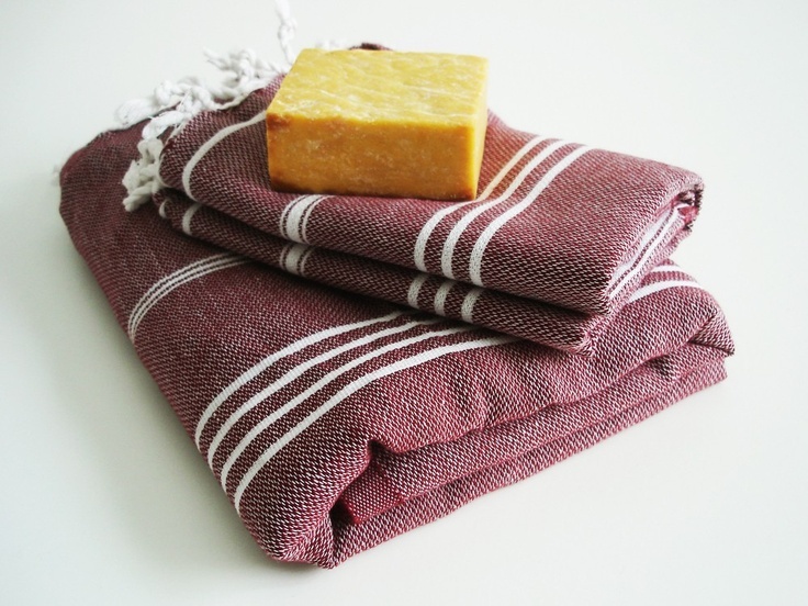 Turkish BATH Towel Set - Classic Peshtemal and Peshkir in Claret red. $34.50, via bathstyle on Etsy.: Turkish Towels, Setturkish Bath, Classic Peshtem, Bath Towels, Bath Accessories, Sets Turkish Bath, 3450, Towels Sets, Towels Classic