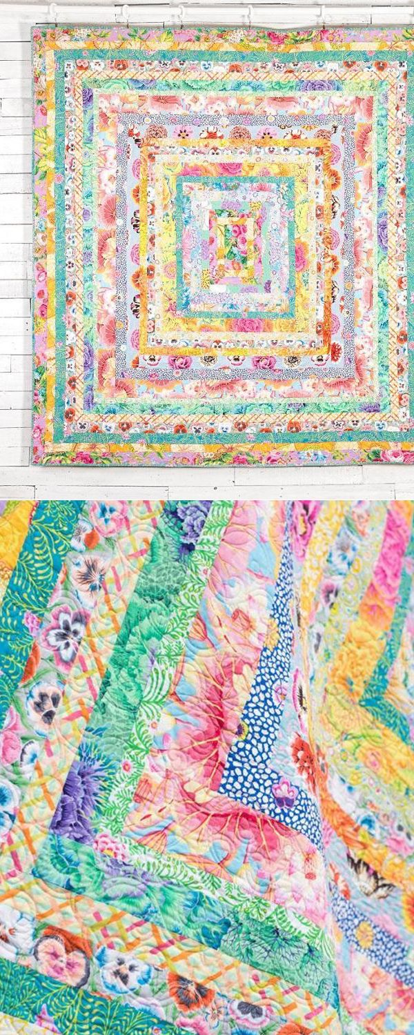 This beautiful baby quilt will bring a splash of color to a nursery. Make a baby shower or christening gift that will last a lifetime!