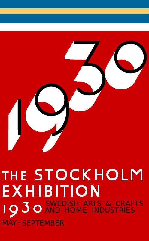 The Stockholm Exhibition was an exhibition held in 1930 that had a great impact on the architectural styles known as Functionalism and International Style. The fair was conducted by the City of Stockholm and the Svenska Slöjdföreningen (which has evolved into Swedish Form). Gregor Paulsson, was the intellectual leader of the fair, inspired, after a visit to the 1927 Weissenhof Estate in Stuttgart.