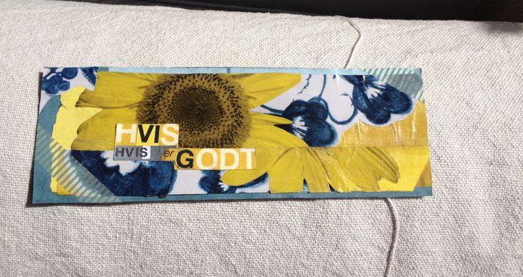 Handmade postcard - Yay