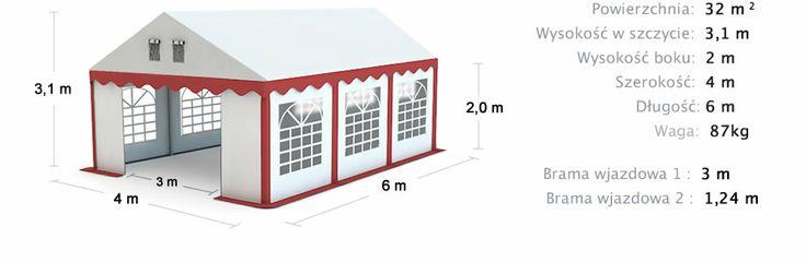Namiot handlowy, imprezowy 4x6 Commercial, party tents 4x6