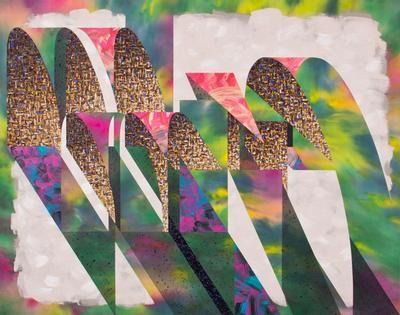 "For Rose Schneiderman  by Nichole van Beek; Acrylic on canvas; 41"" x 52""; 2013"