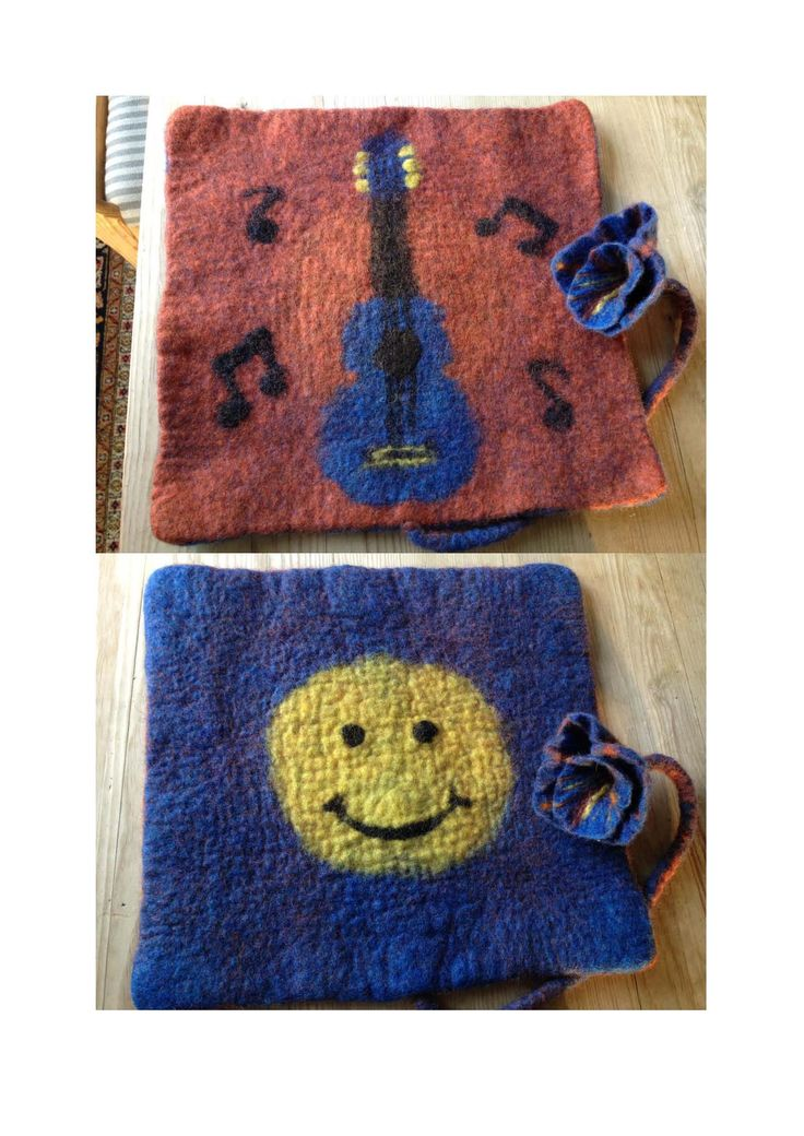 Wet felted pad for a Guitar player