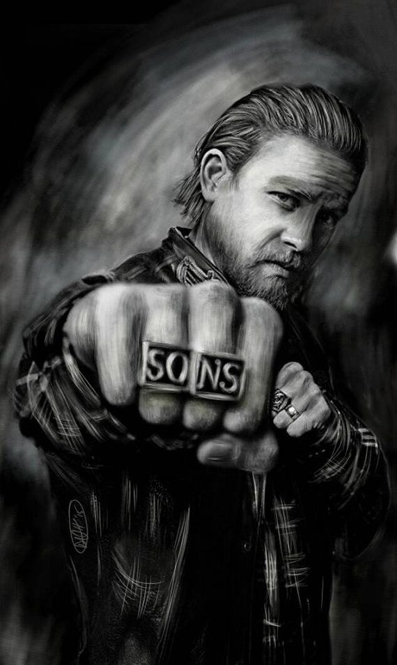 Inspired By Sons Of Anarchy Jax Teller Charlie Hunham Wall Art Small 11 In X 17 In Poster Print Sons Of Anarchy Anarchy Sons Of Anarchy Gemma