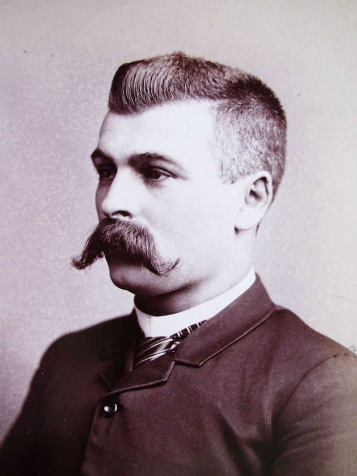 ABINET PHOTO HANDSOME DAPPER YOUNG GENT WITH BIG HANDLEBAR MUSTACHE CANTON OHIO