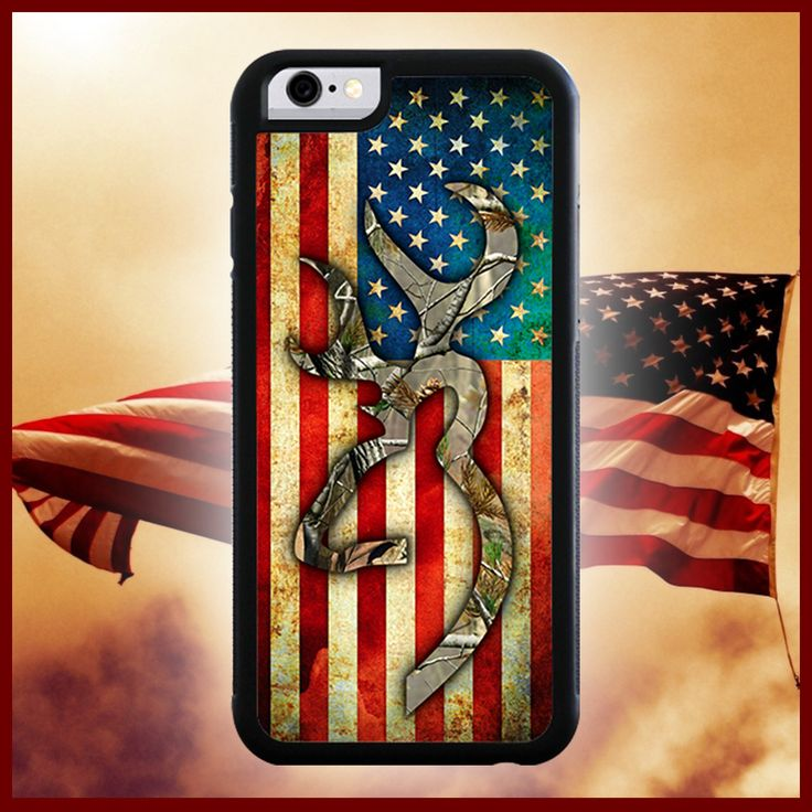 Browning American Flag Camo Phone Case