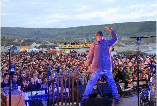 Goldcoast Oceanfest in Croyde, North Devon. Pictured here is Seasick Steve.