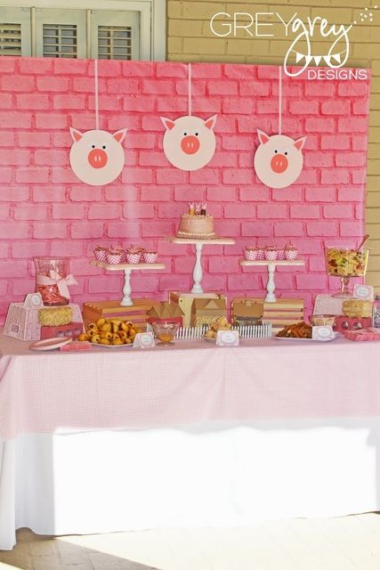 little pig birthday decorATIONS | Three Little Pigs Birthday Party Ideas | Photo 35 of 46 | Catch My ...
