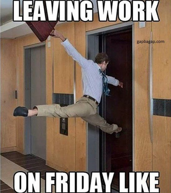 Funny Meme About Friday Feeling