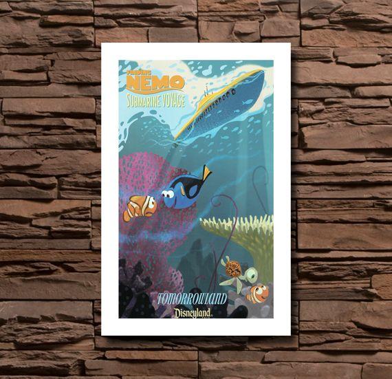 Disneyland Tomorrowland Finding Nemo Submarine Voyage - 0100  www.classicdisneyart.com