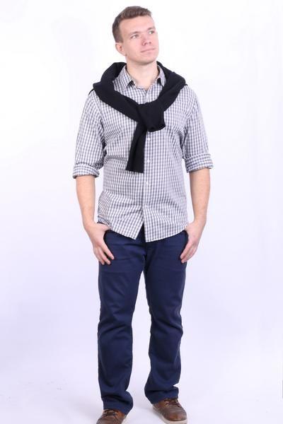 Ralph Lauren Chaps Mens L Casual Shirt Long Sleeve Checkered White - RetrospectClothes