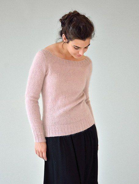 Вязаный пуловер с глубоким вырезом на спине