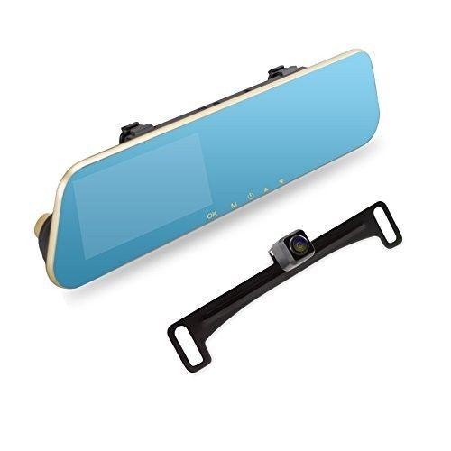 Backup Camera System License Plate Monitor Rear View Mirror Flush Mount Kit New #BackupCameraSystem #FlushMountKit