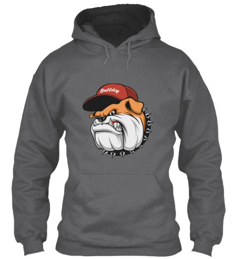 Bulldog Dark Heather Sweatshirt Front