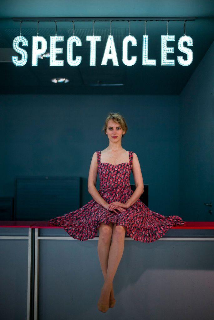 Sweetheart neckline frilly dress - Carlotta Stermaria