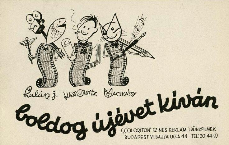 Újévi üdvözlőlap a Coloritontól. #GyulaMacskássy #JohnHalas