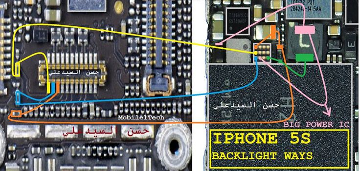 iPhone 5S LCD Display Light IC Solution Jumper Problem