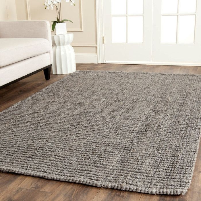 Darker Natural Fiber Rug Easy To Clean Adds A Layer Of Texture The E Safavieh Hand Woven Light Grey Jute X Ping