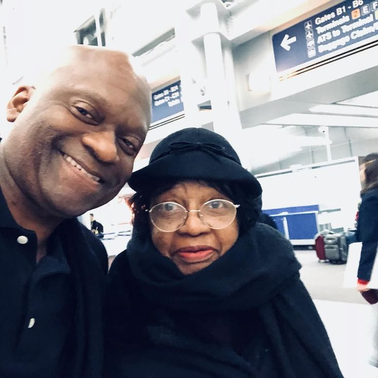 With Mom At Chicago OHare Airport United Airlines Terminal