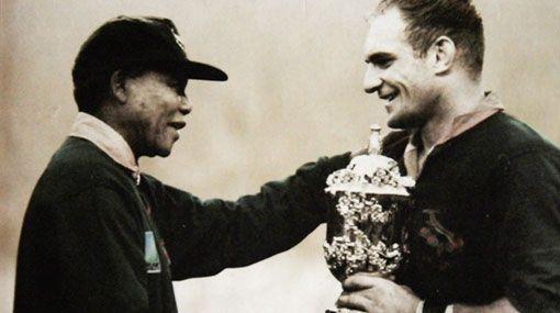 !a dream come true! Nelson Mandela & Francois Pienaar  South Africa 1995