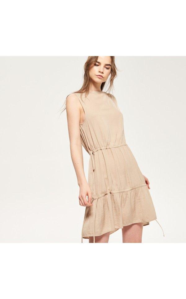 Sukienka w stylu Sarafi, Sukienki, kombinezony, beŻowy, RESERVED