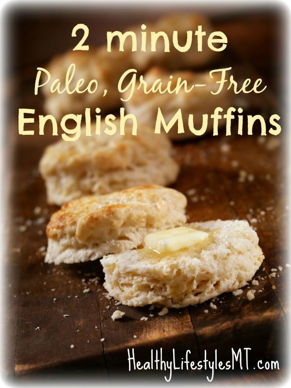 2 minute, Paleo, Gluten-Free English Muffins- repin this for an easy breakfast on a busy morning!
