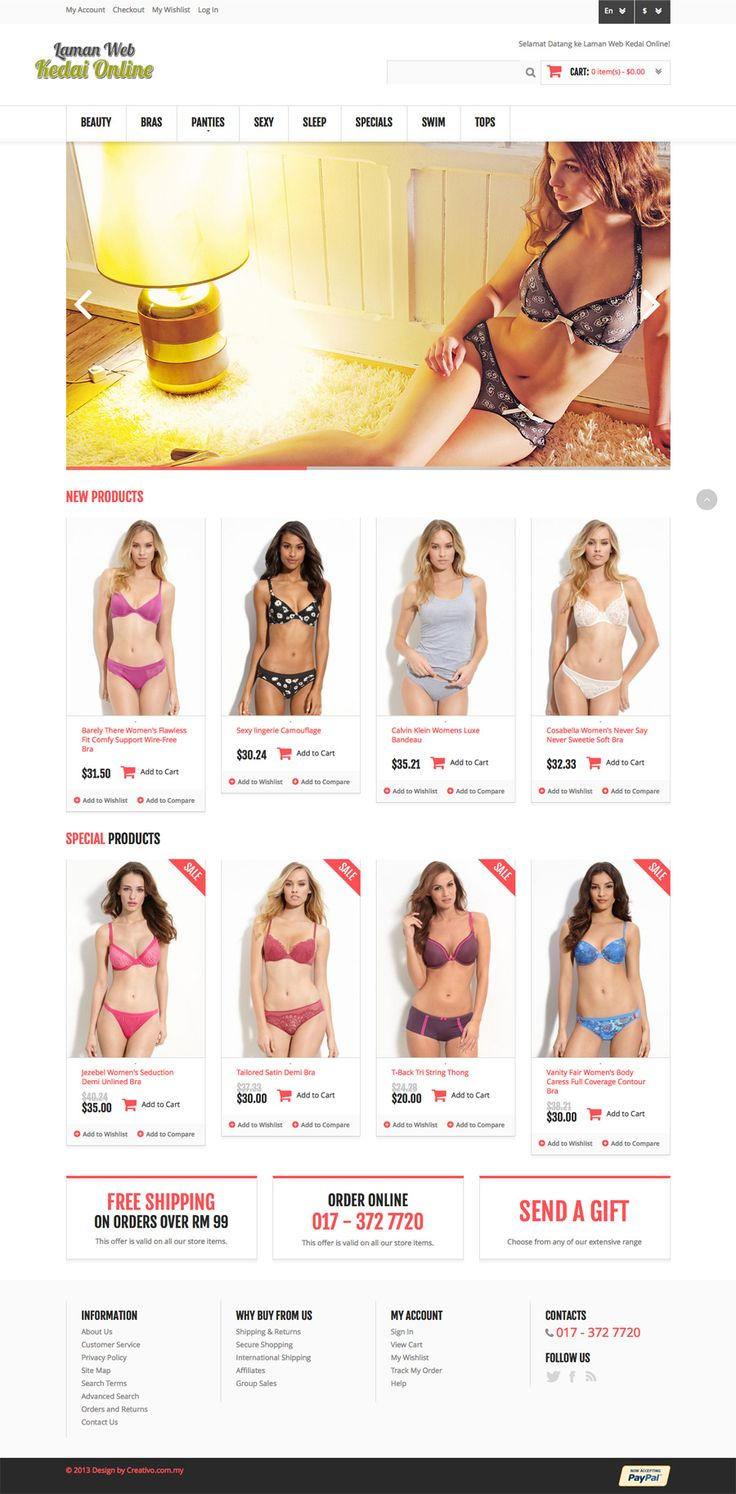Lingerie - Ecommerce Website Design