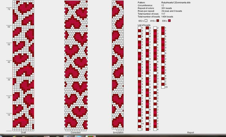 Wayuu Mochila chart hearts