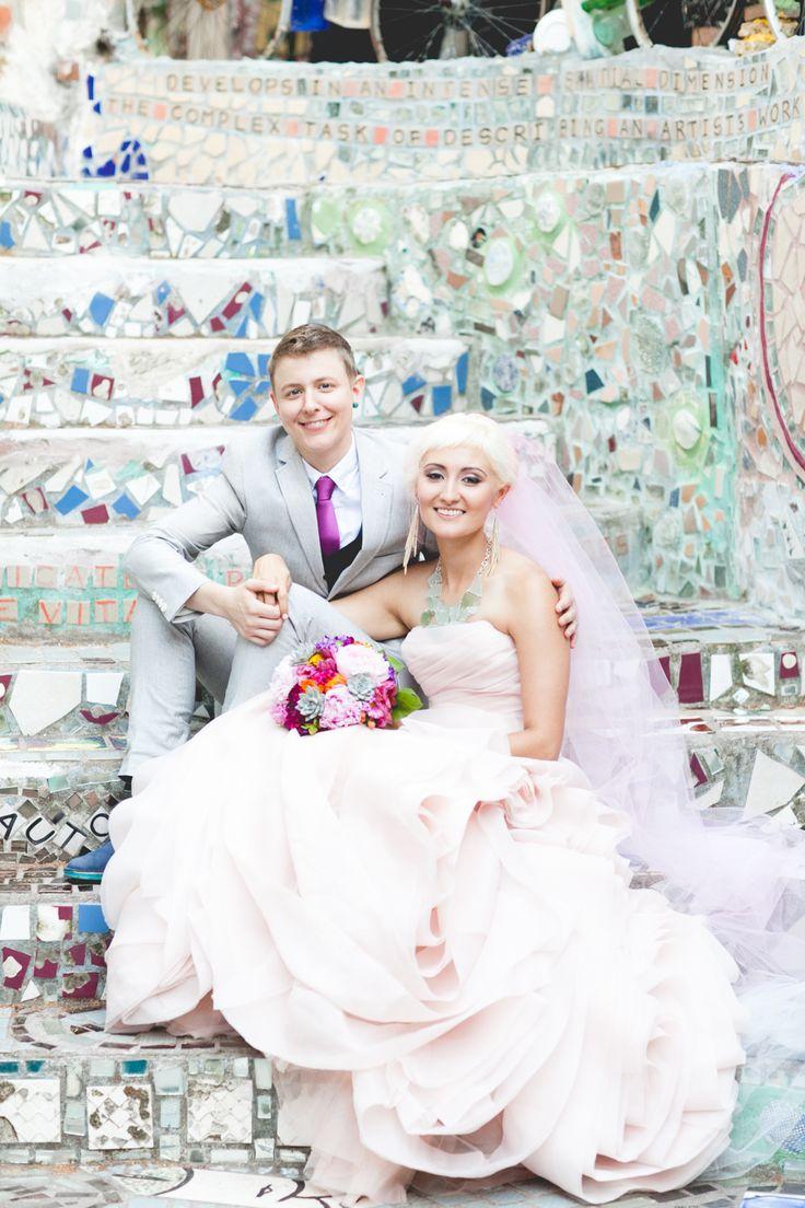 A Vibrant Mosaic Wedding at Philadelphia's Magic Gardens in Pennsylvania